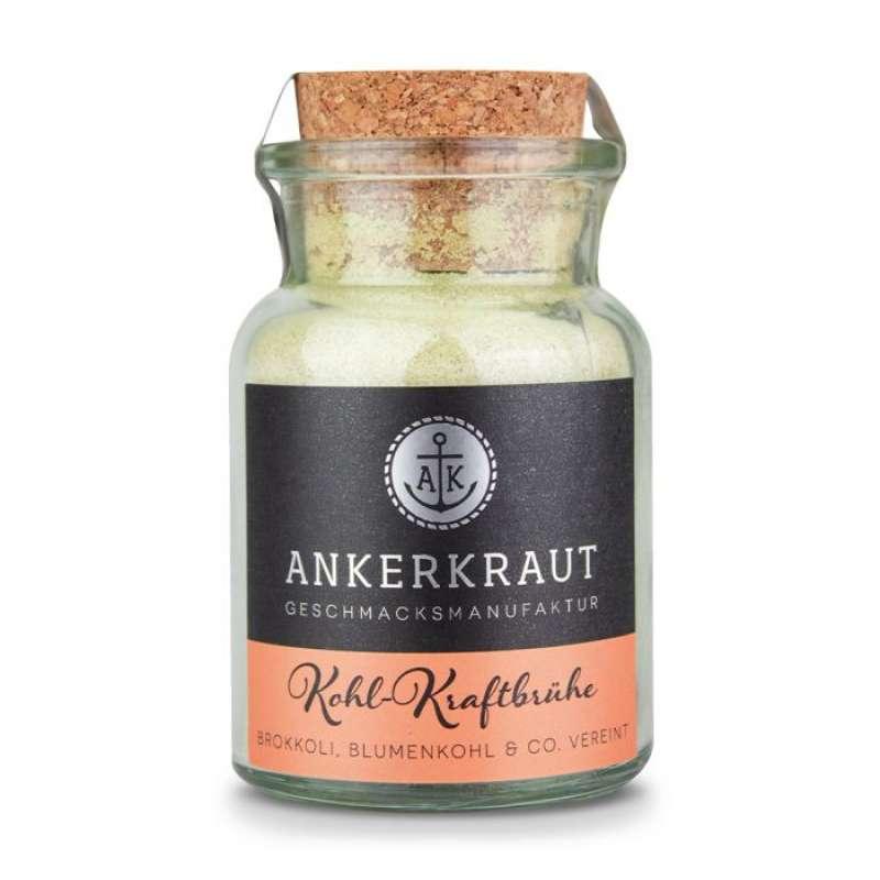 Ankerkraut Kohl-Kraftbrühe Gewürzmischung für Brokkoli, Blumenkohl & Co. im Korkenglas 110 g