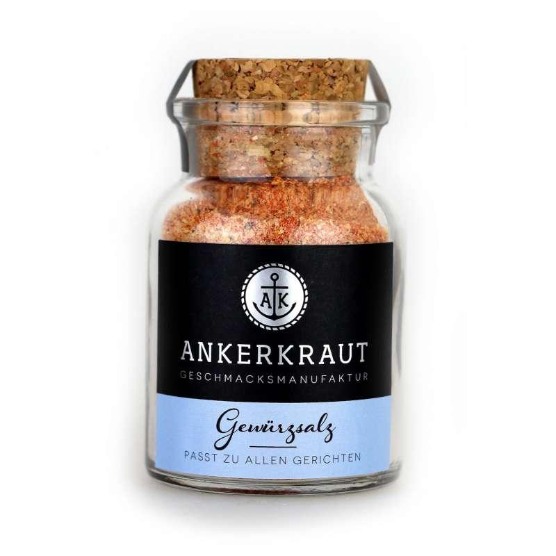 Ankerkraut Gewürzsalz Salz im Korkenglas 140 g Meersalz