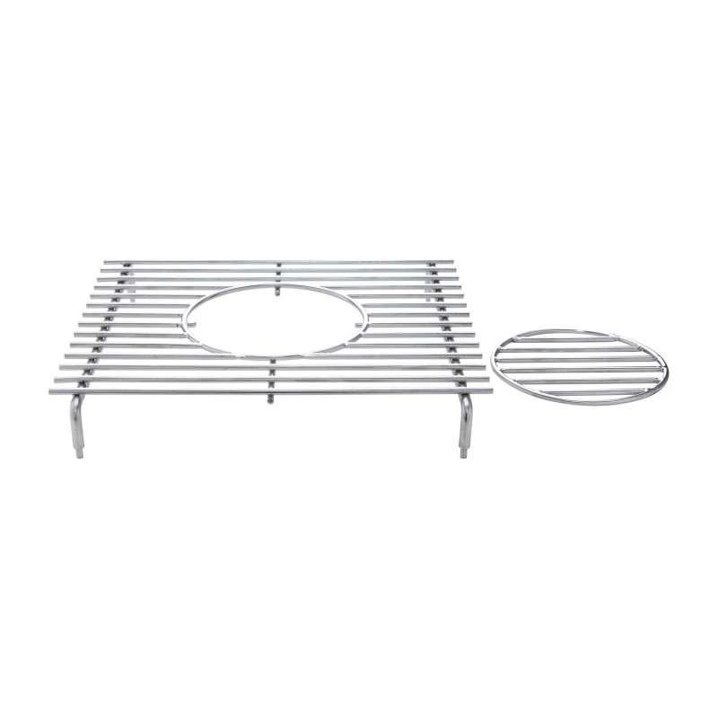 Allgrill Geschirr-/Wok-Aufsatz für Seitenbrenner Extrem, Ultra, Outdoorküche 31x29x4,7 cm Edelstahl
