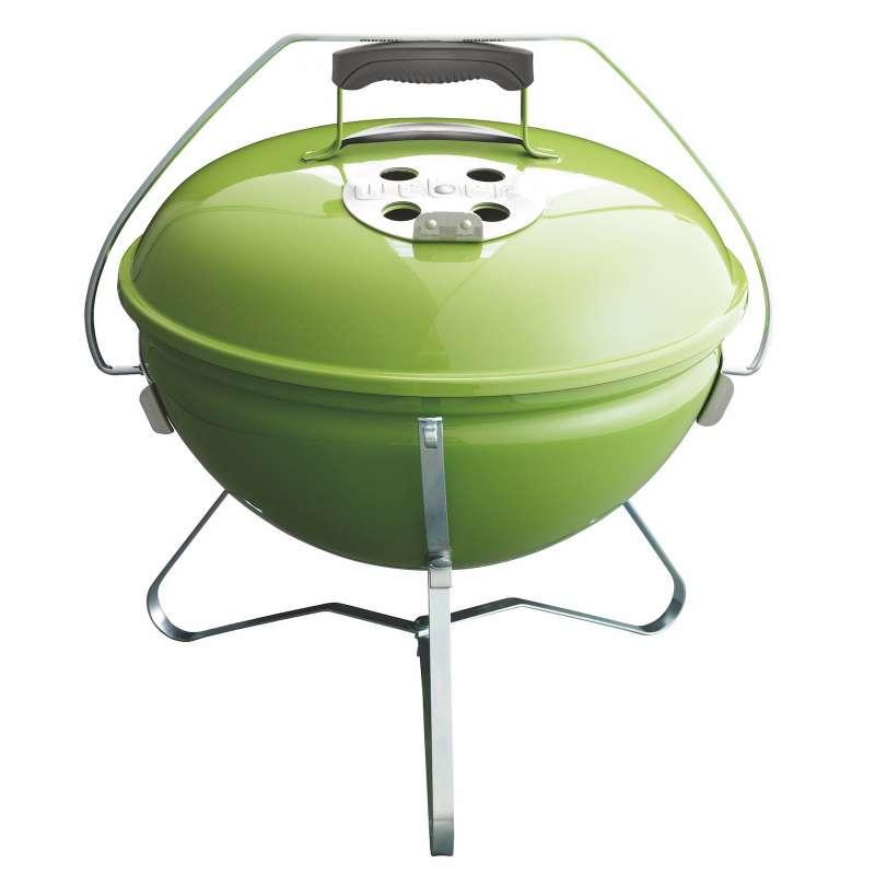 Weber Vorteils-Set 4-teilig Holzkohlegrill Smokey Joe Premiumø 37 cm Spring Green mit gratis Holzkoh