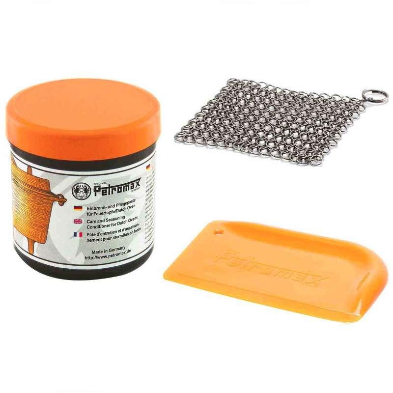 Petromax Reinigungsset 3-teilig Einbrennpaste, Ringreiniger und Schaber
