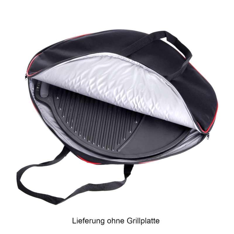 Gusseisenkuss® isolierte Tragetasche für Gussplatten bis Ø 38 cm Grillplattentasche Größe 1