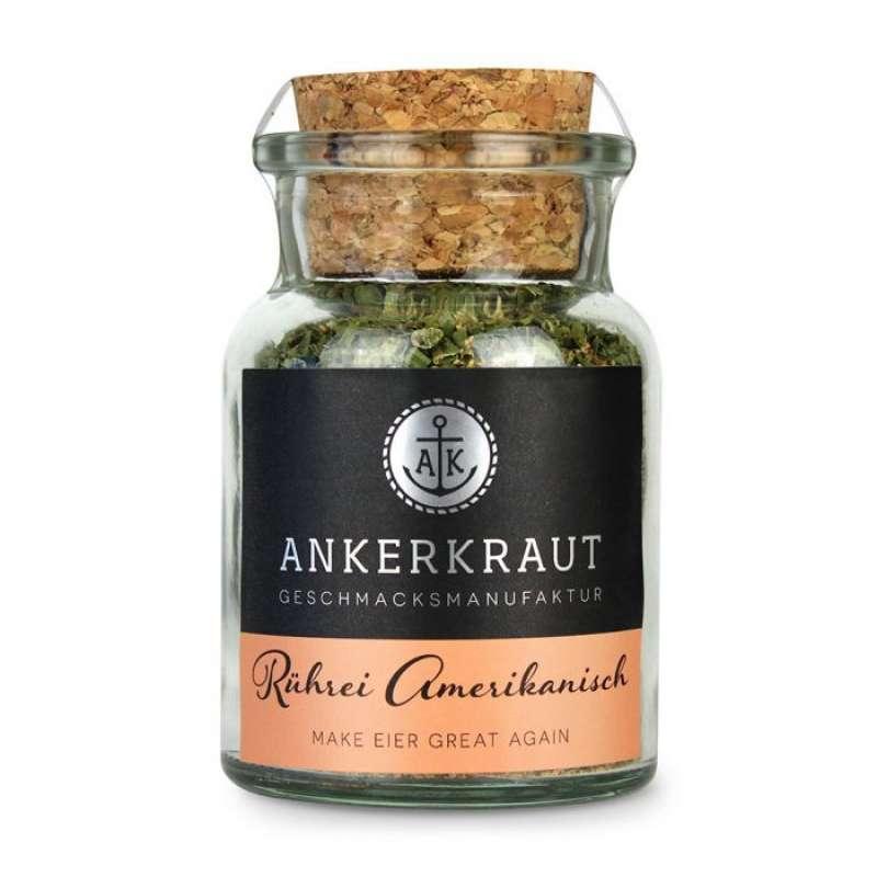 Ankerkraut Rührei Amerikanisch Gewürzmischung Gewürzzubereitung im Korkenglas 70 g