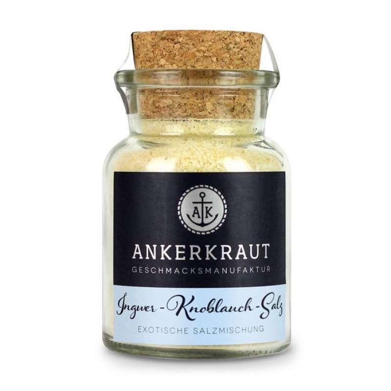 Ankerkraut Ingwer Knoblauch Salz Gewürzsalz im Korkenglas 160 g