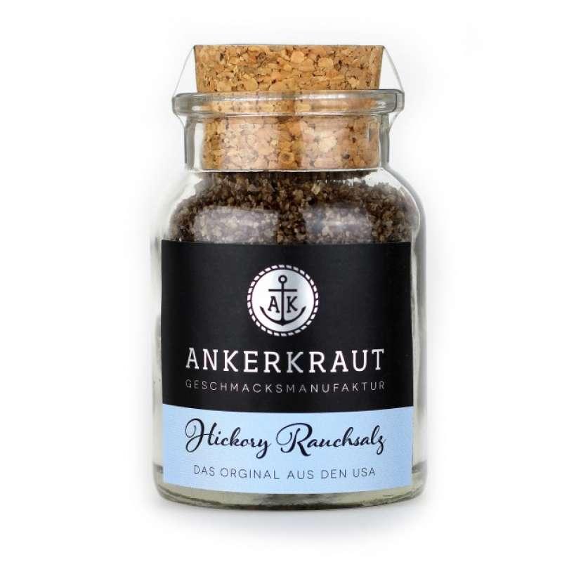 Ankerkraut Hickory Rauchsalz Gewürzsalz 90g im Korkenglas