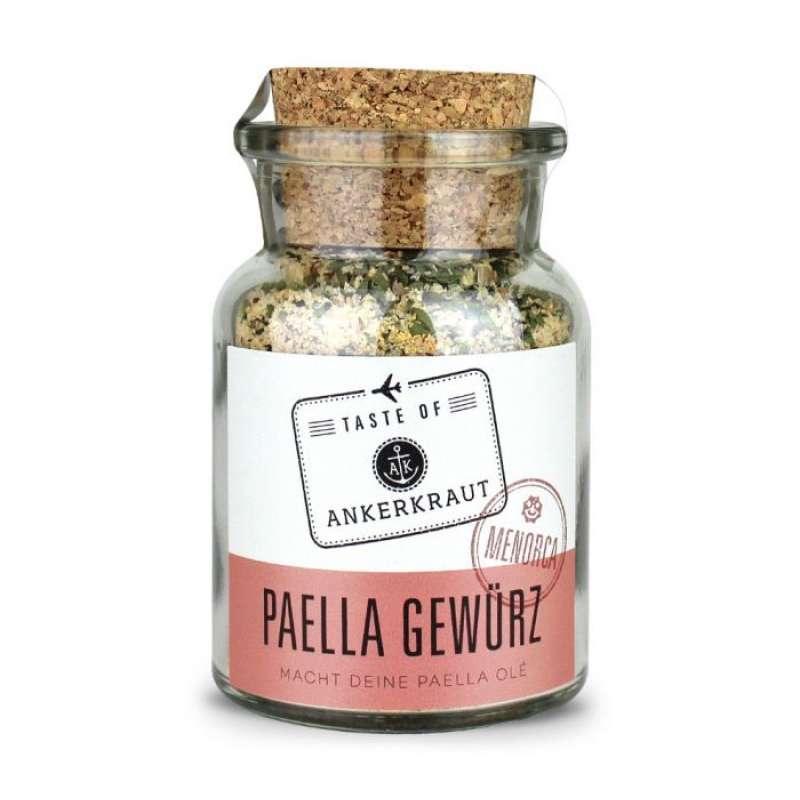 Ankerkraut Paella Gewürz (Menorca) Gewürzmischung für Paella im Korkenglas 145 g