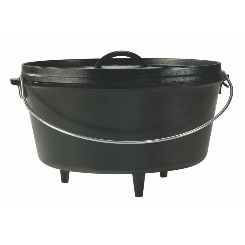 Rumo Barbeque Lodge Cast Iron Camp Dutch Oven Topf inkl. Deckel 7,6 Liter