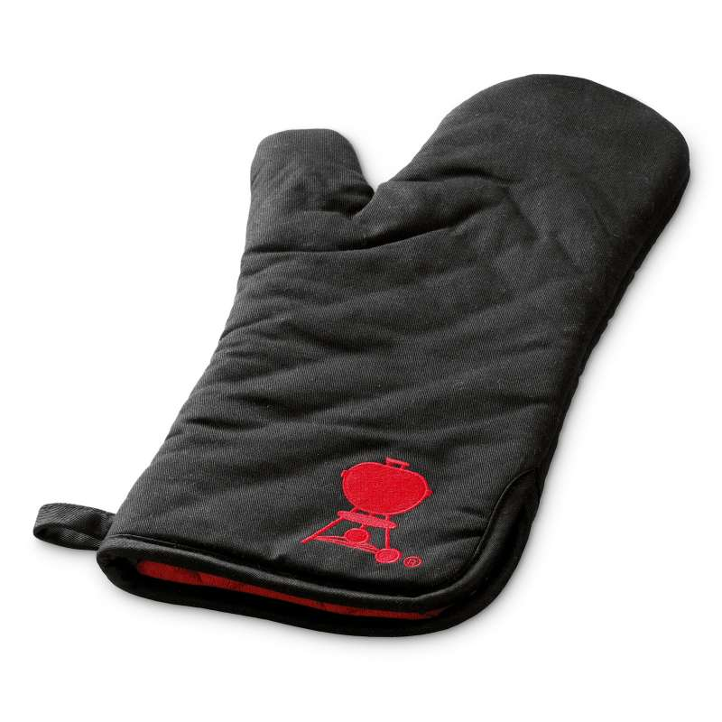 Weber Grillhandschuh schwarz mit rotem Kugelgrill