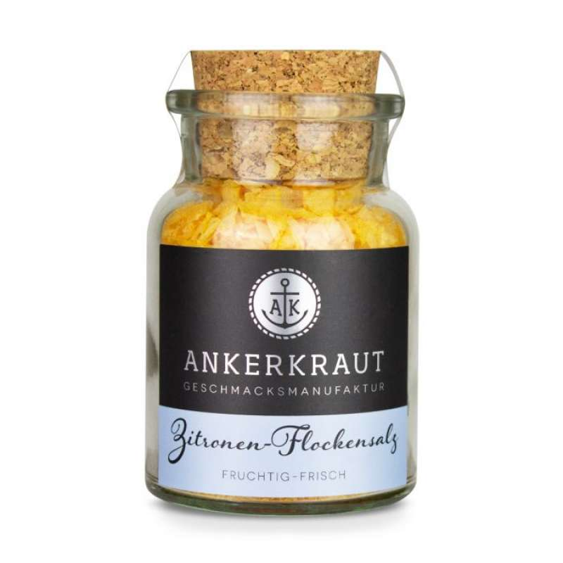 Ankerkraut Zitronen-Flockensalz Gewürzmischung im Korkenglas 100 g Gewürzsalz
