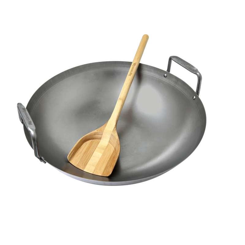 Big Green Egg Grill-Wok aus Kohlenstoffstahl Carbon Steel Grill Wok Ø 40 cm für EGG Large & XLarge