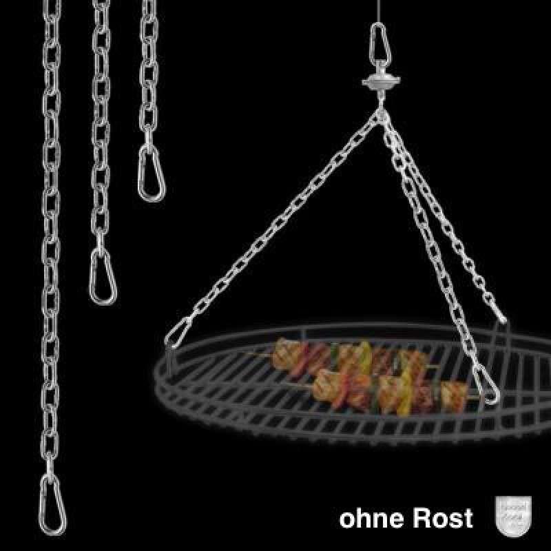 Schneider Kettenkit mit Seilwirbel und Karabinerhaken für Roste bis Ø 60 cm