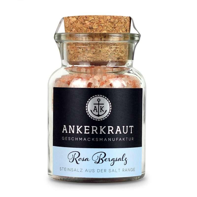 Ankerkraut Rosa Bergsalz im Korkenglas 165 g grobes Salz für die Mühle