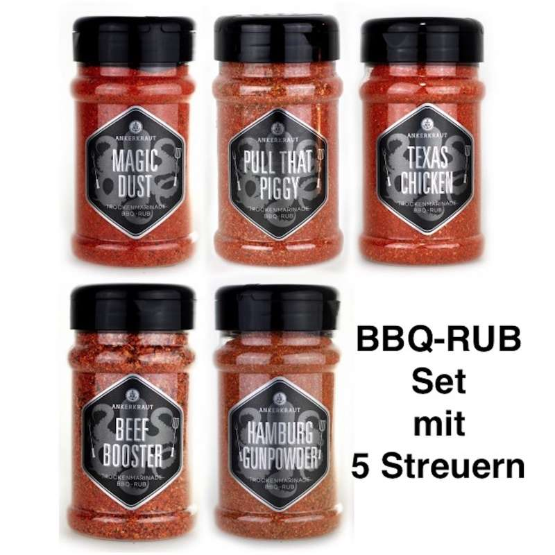 Ankerkraut 5er BBQ Rub Marinaden Set