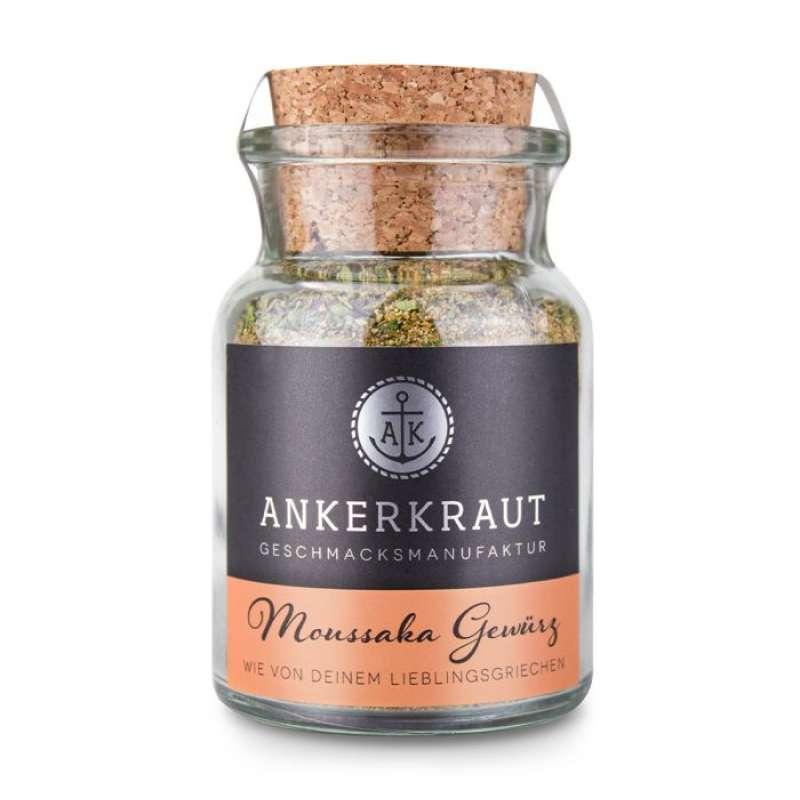 Ankerkraut Moussaka Gewürz Gewürzmischung Gewürzzubereitung für Moussaka im Korkenglas 80 g