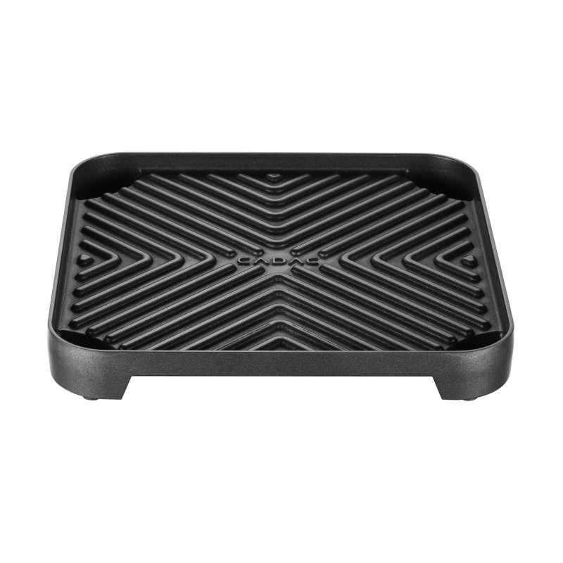 Cadac Gerippte Grillplatte für 2-Cook beschichtet 25 x 25 cm mit GreenGrill Oberfläche 202-300