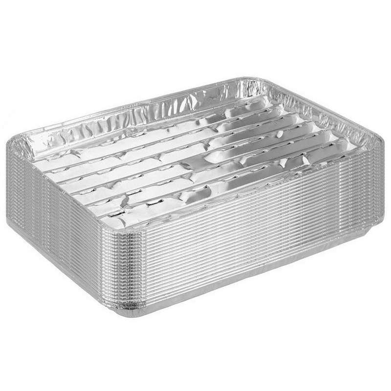 ALU 24 Stück Grillschale Aluschale 34 x 23 cm Grillteller Aluteller Grillplatte