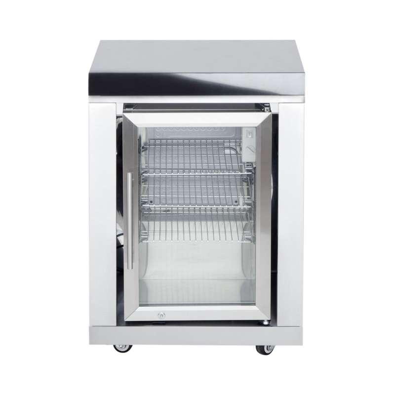 Allgrill Top-Line modulare Outdoorküche Edelstahl Modul 10 Anbau-Kühlschrank 63 Liter