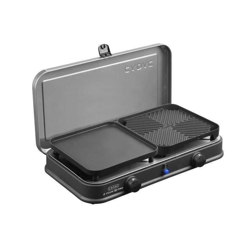 Cadac 2-Cook 2 Pro Deluxe BBQ Grill Gasgrill Tischgrill Campinggrill 57 x 31 x 25 cm 202P1-20