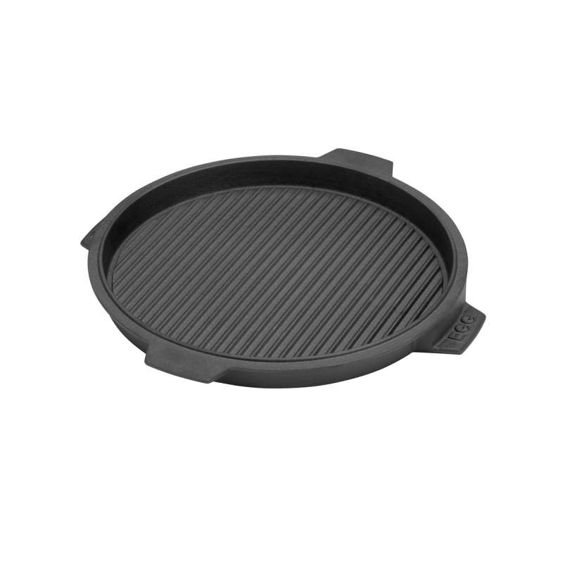 Big Green Egg Grillplatte aus Gusseisen Cast Iron Plancha Ø 26 cm für EGG MiniMax Small Medium