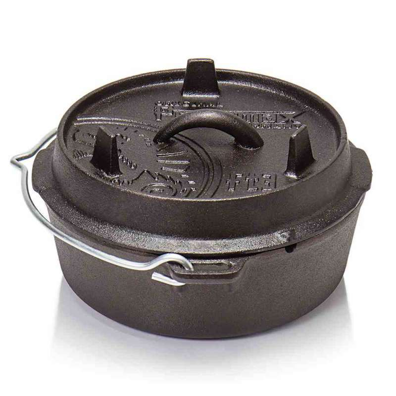 Petromax Feuertopf 3qt FT3-T ohne Füße 1,6 Liter Gusseisen 24x24x10,5 cm
