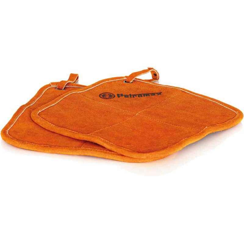 Petromax 2er-Set Topflappen Aramid feuer- und hitzebeständig rot-orange 25,5x25,5x1,5 cm