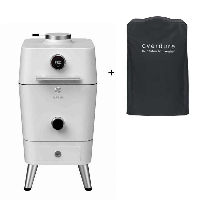 Everdure 4K Kamado Kohle- und elektrischer Outdoor Ofen Stone inkl. Premium Abdeckhaube
