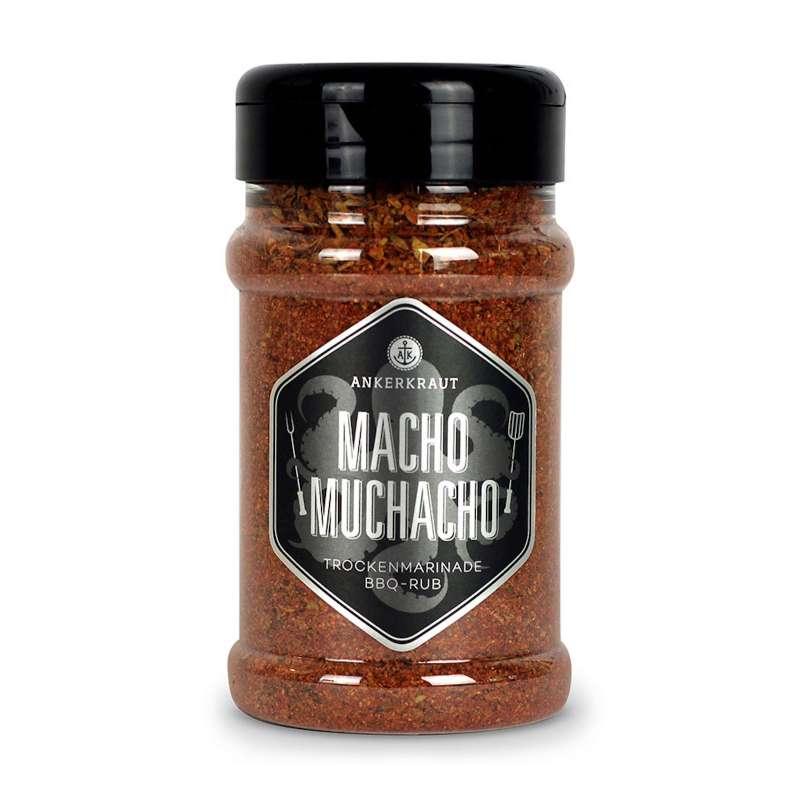 Ankerkraut Macho Muchacho Trockenmarinade BBQ Rub im Streuer 200 g für Fleisch
