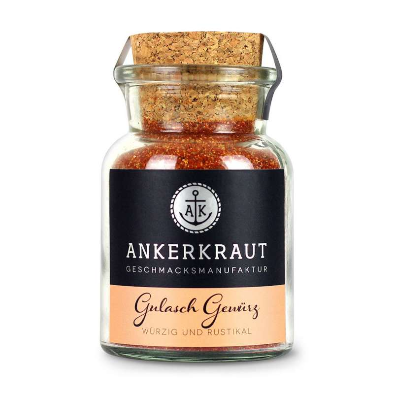 Ankerkraut Gulasch Gewürz Korkenglas 80 g Würzig und Rustikal Gewürzmischung