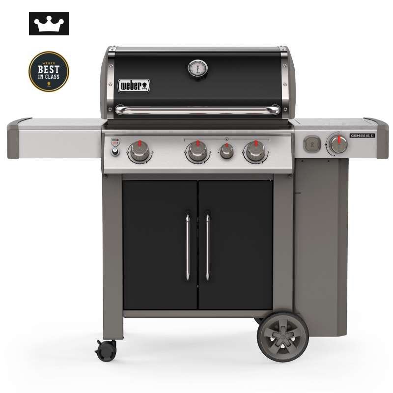 Weber Gasgrill Genesis II EP-335 GBS Black + iGrill 3 Thermometer 7205
