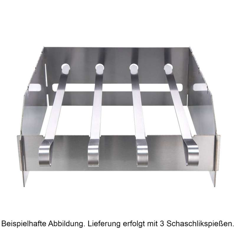 Allgrill Schaschlikspieß-Set für Steakzone Chef S/M/L/XL 32x23x12,5 cm Edelstahl