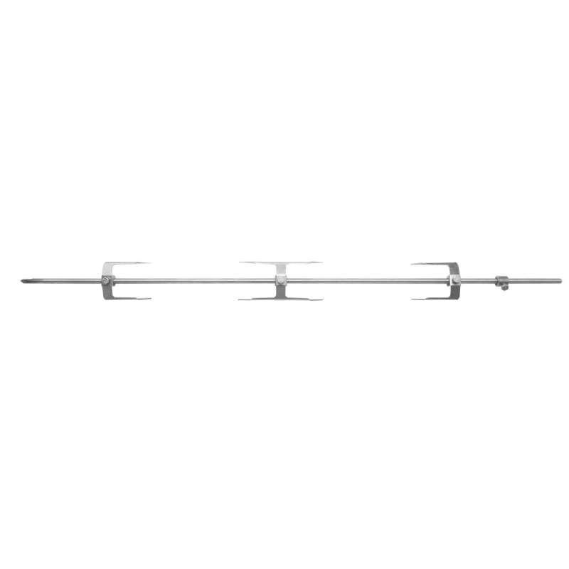 Schneider Grillspieß Komplett-Set aus Edelstahl Länge 70 cm ∅ 8 mm Drehspieß
