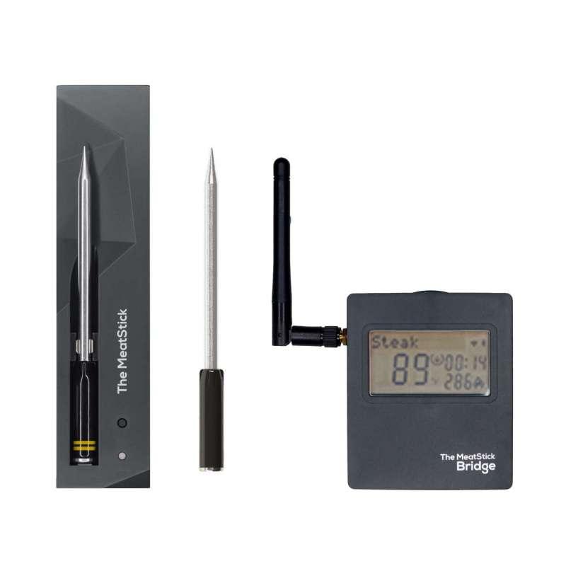 The MeatStick (2 Stück) BR662 SET 4 mit WiFi Bridge, Ladegerät, Tasche Kabelloses Grillthermometer