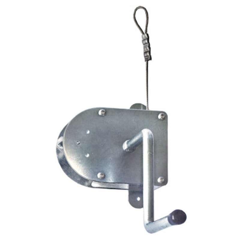 Schneider Kurbel Edelstahl mit 8 m Drahtseil für Roste über 70 cm Schwenkgrill schwere Ausführung