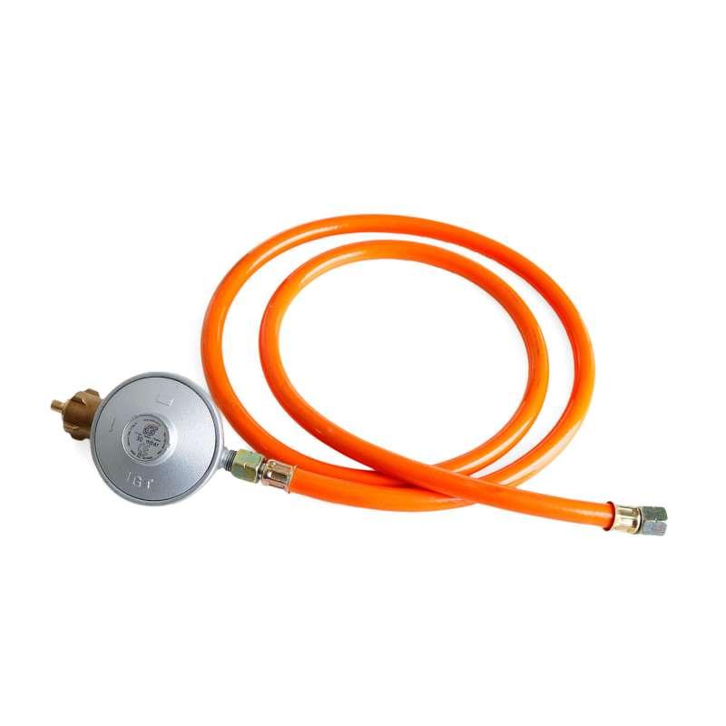 Paella World Gas-Anschluss-Set 30 mbar Gasdruckminderer Gasschlauch 1,5 m
