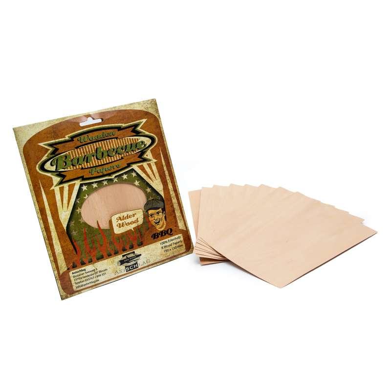 Axtschlag Wood Papers Räucherblätter Erle 190 x 150 mm 100G03M0600V