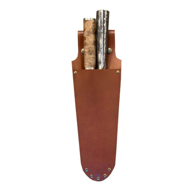 Monolith Messer-Holster Messerhalter für 2 Messer aus robustem Büffelleder A-001-KNIFE