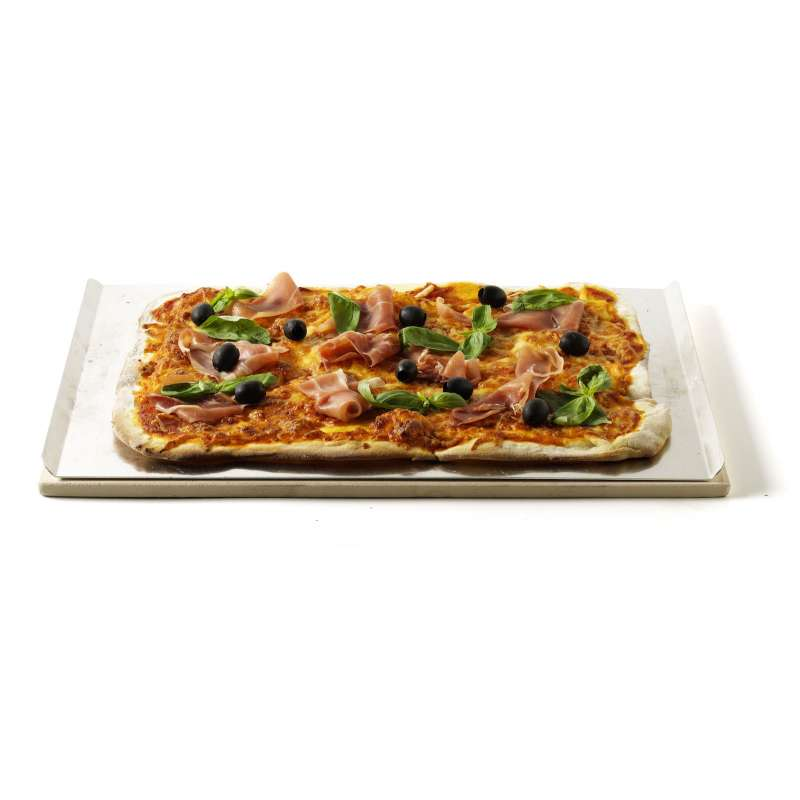 Weber Pizzastein rechteckig 44 x 30 cm inklusive Alublech