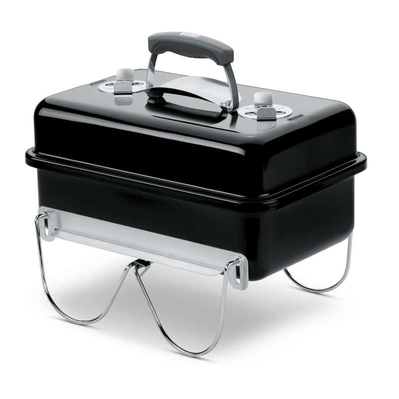 Weber Vorteils-Set 4-teilig Holzkohlegrill Go-Anywhere Charcoal Grill Black mit gratis Holzkohle