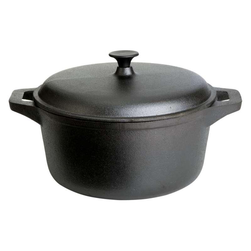 Gusseisenkuss® Gusstopf mit Deckel Ø 27,5 cm 6,5 Liter Gusseisen