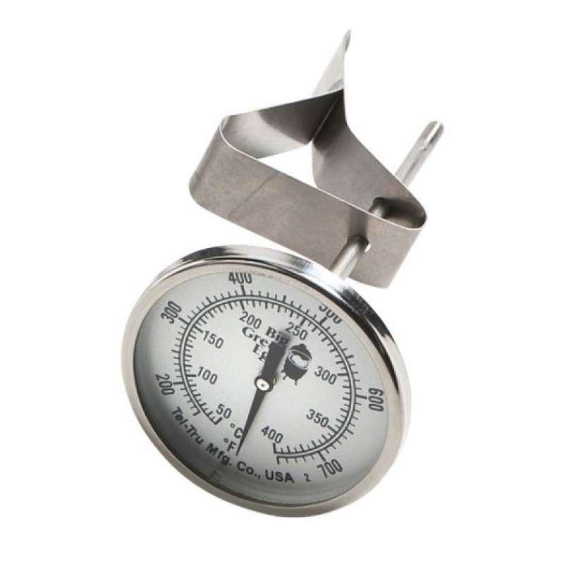 Big Green Egg Tel-Tru Deckelthermometer Edelstahl für Medium, Small, MiniMax und Mini