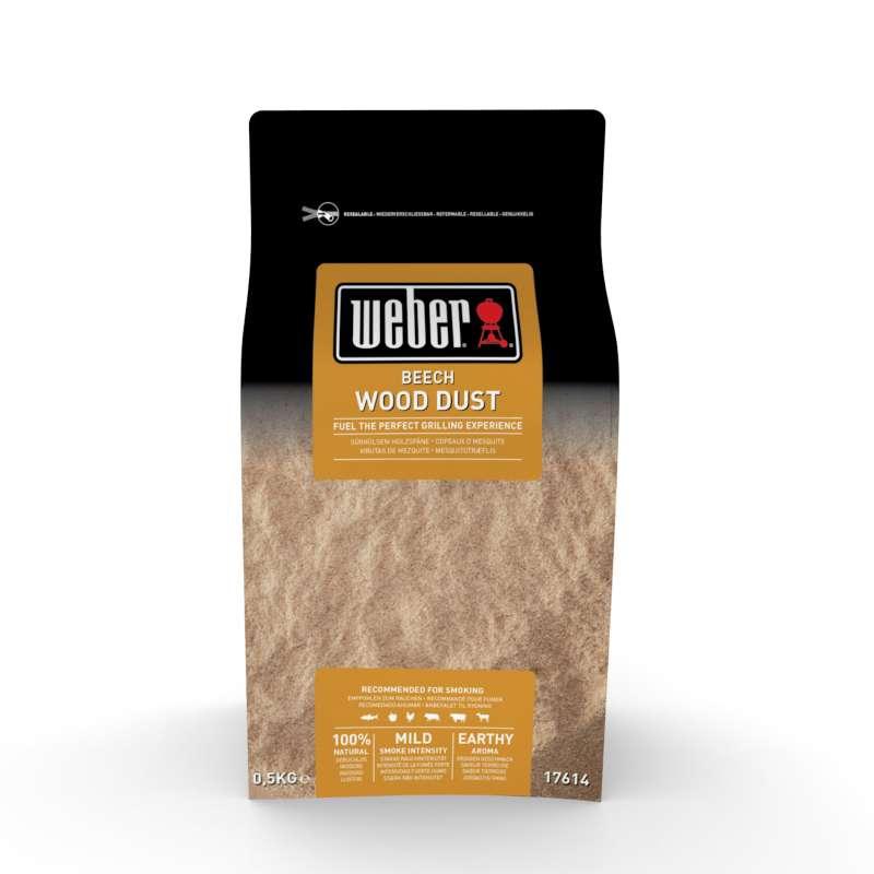 Weber Räuchermehl Buche für Kalträucherschnecke 500 g