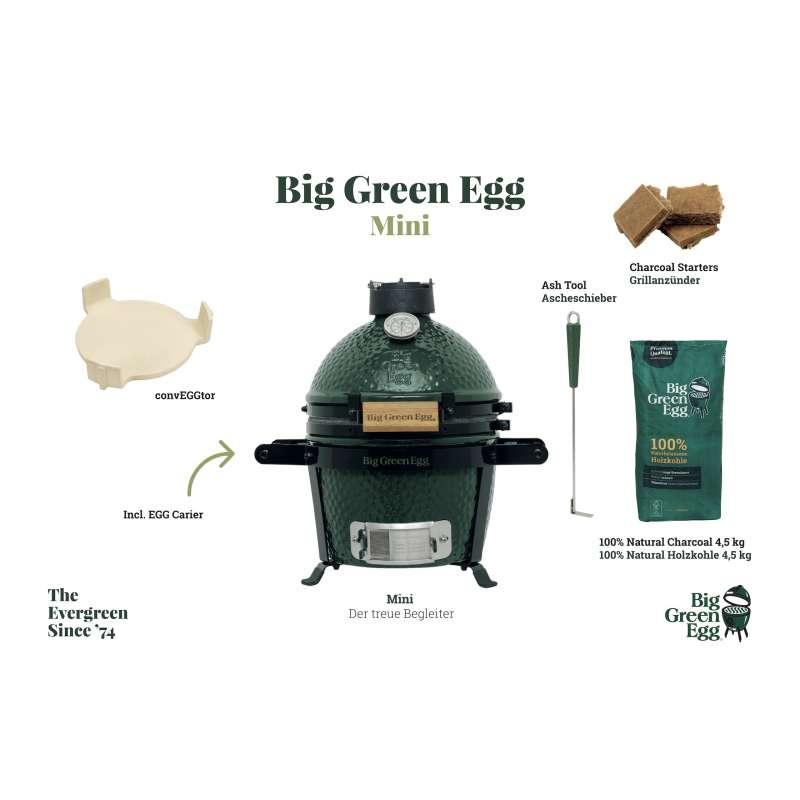 Big Green Egg Mini Starter-Paket Kamadogrill Keramikgrill ø 25 cm Grillrost für 2-4 Personen