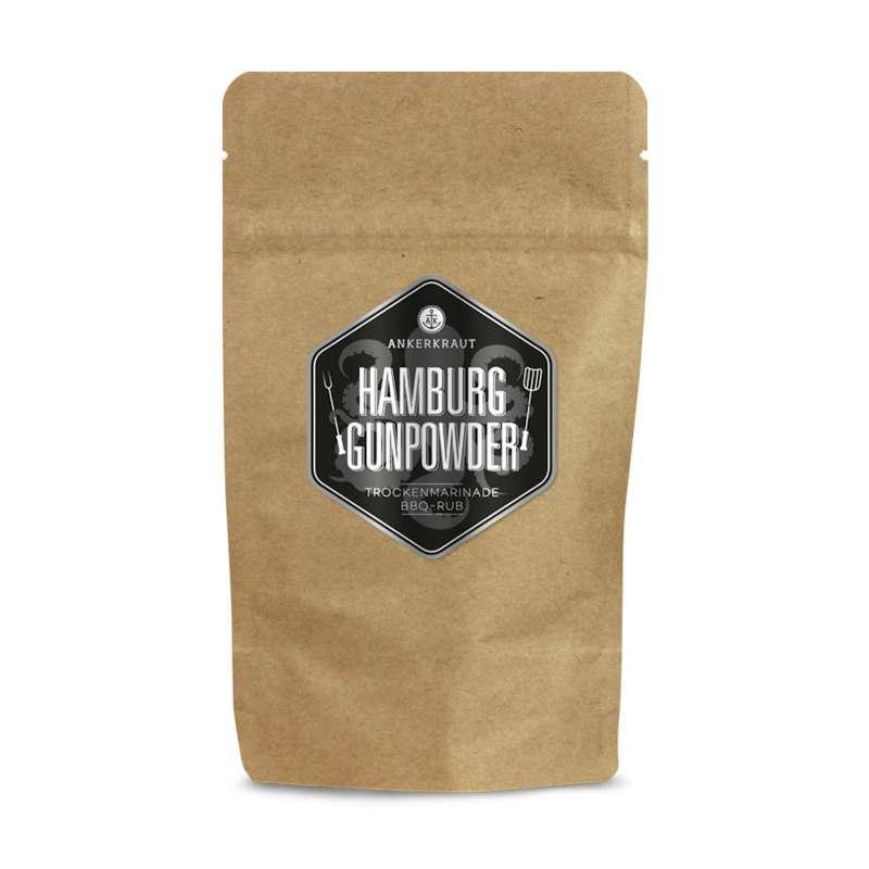 Ankerkraut Hamburg Gunpowder BBQ Rub Gewürzmischung in der Tüte Nachfüllpack 250 g