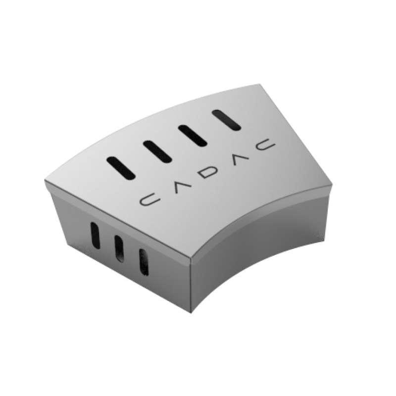 Cadac Mini Räucherbox aus Edelstahl für Citi Chef 40 & 50, Carri Chef 50 & Grillo Chef 40 98316V