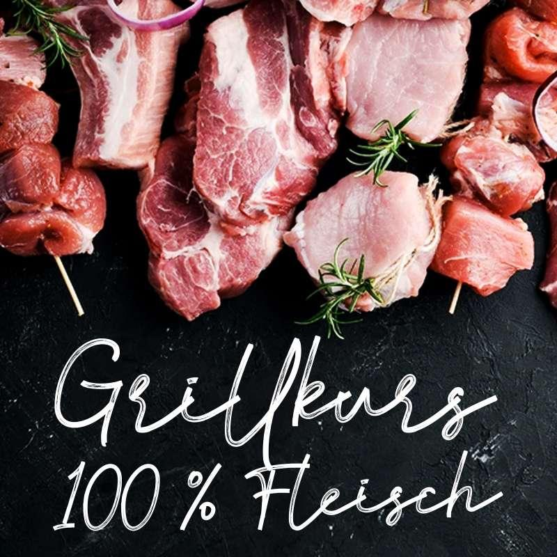 23.03.2022 Grillkurs 100 % Fleisch - Der Grillkurs für alle Fleischliebhaber - 4 h - Mittwoch -
