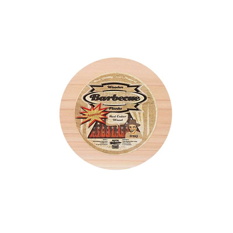 Axtschlag 4 Stück Western Red Cedar Appetizer Grillbrett 4er Pack 100G02M1205V