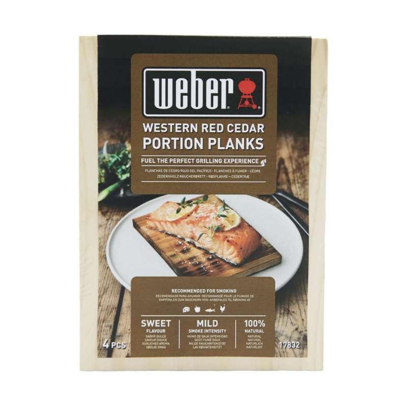 Weber Räucherbretter aus Zedernholz - Serviergröße 4 Stück