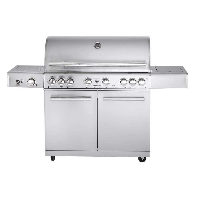 Allgrill Top-Line Modular Chef XL Volledelstahl Gasgrill Air System 6 Brenner/Steakzone/Backburner