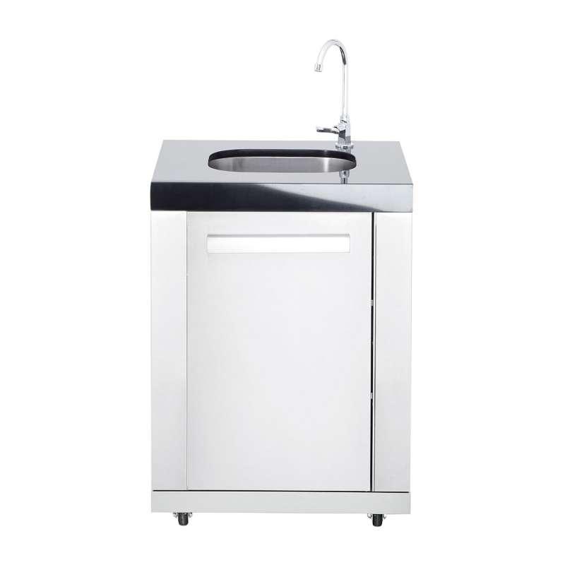 Allgrill Top-Line modulare Outdoorküche Edelstahl Modul 8 Anbau-Waschbecken