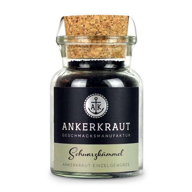 Ankerkraut Schwarzkümmel ganz Gewürz Korn Grillgewürz Korkenglas 80 g
